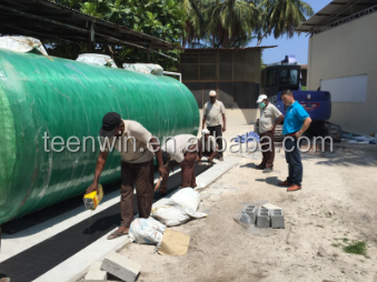 Teenwin above ground sewage tanks