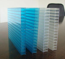 8mm four wall Polycarbonate hollow Sheet