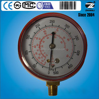 CE approved customized refrigerant r134a meter with red color painted steel