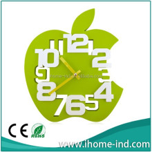 Apple shape funny plastic wall clock IH-3113