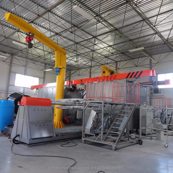 the shuttle rotation molding machine with multi-arms and carriges