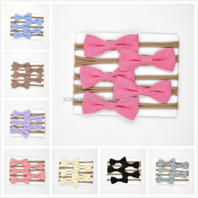 Top quality stretch nylon baby knot headbands for girls