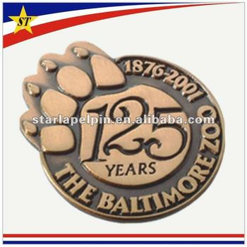 custom design die cast metal badge