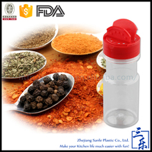 Factory wholesale 50~300ml flip top lid/cap plastic spice shaker bottle,kitchen spice jars