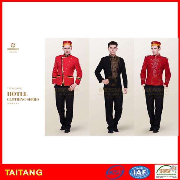 stylish high quality custom size fashion staff bellboy