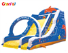 Inflatable Sea World Theme Dry Slide with Climbing and Arch for Sales