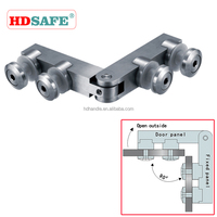stainless steel 180 deg glass to glass/wall hinge