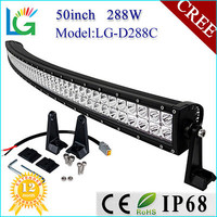 Headlight Type and LED Lamp Type 50 inch 288W 4x4 Cree Led Car Light Curved Led Light bar