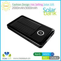 Contemporary best selling slim solar mobile charger 1800mah