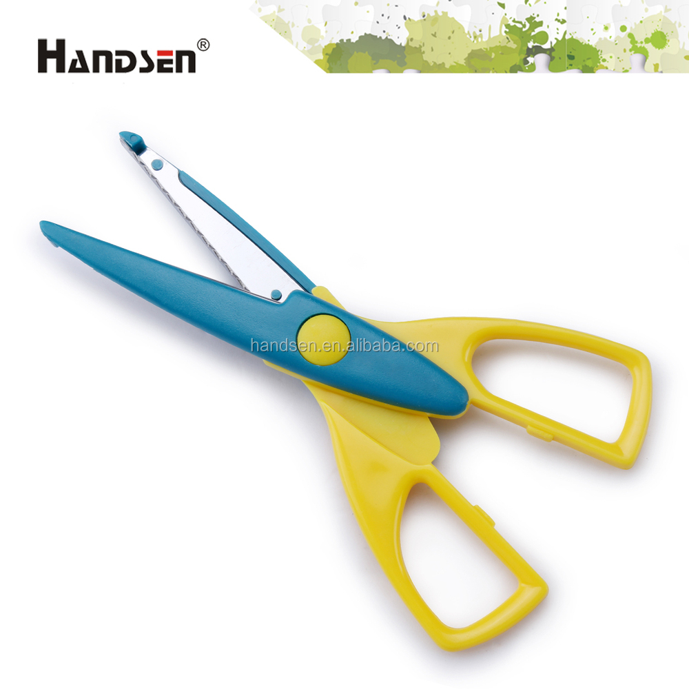 "6-1/2"" different shape pattern blade craft decorative scissors"