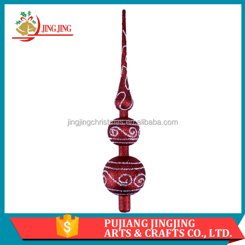 Chinese supplier Hot Sale Hand Painted Plastic Christmas Tree Topper