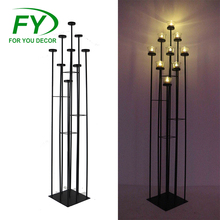 CH-31917 Wedding flower gate decoration tall iron candle stand