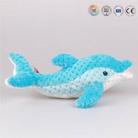 Sedex Audited Factory Custom Plush Toys Stuffed Blue Dolphin, Cute Plush Dolphin