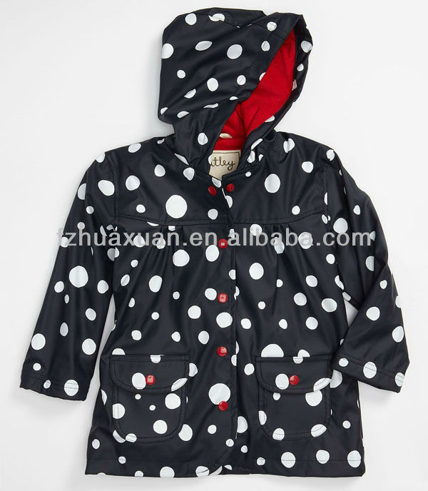 Adorable printing kids raincoat waterproof and breathable