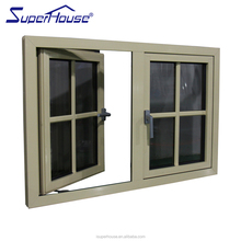 AS2208&NZ Standard Modern powder coated Aluminium Lowes Glass Casement window grille design