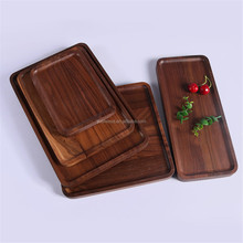 wholesale cheap carved archaize wooden bread serving tray with handle