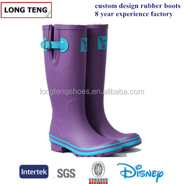 purple print ladies sex lostland rain boots wellies wellington boots