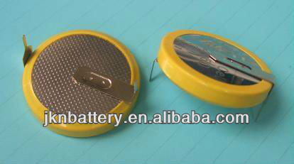 lithium battery 3v cr2032 with solder tabs