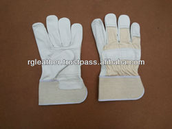 White Grain Double Palm Protection Cuff Canadian Gloves