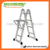 EN131 multi-purpose ladder,scaffolding,escada,sep stool,AM0108D,4X2