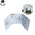 Aluminum Foil High-temperature Insulation Printed Oil Baffle-Plate For Stove