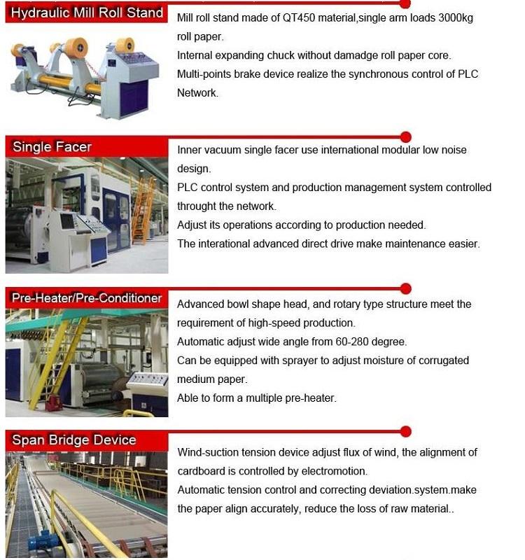 Automatic Corrugated Cardboard Production Line Carton Box Making Machine