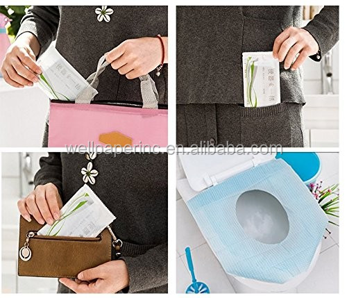12PCS Pocket Size healthful Safe portable Travel Disposable Paper Toilet Seat Covers