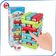 kids Intelligent toys jenga stacker stacking block games ABS Plastic Building Blocks