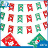 Santa Claus Green And Red Color Fabric Bunting Christmas Bunting