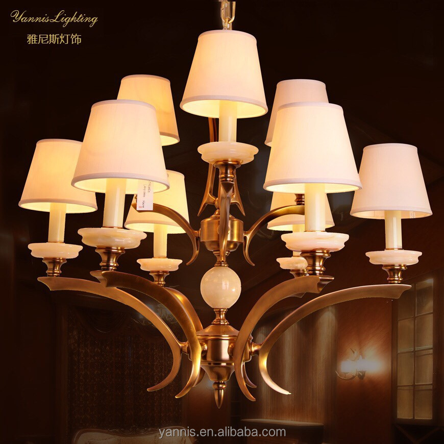 new design empire LED candle antique chandelier lamp for home decoration