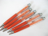 20156 new orange crystal pen or metal pen or metal promotional crystal pen with engrave logo P10256