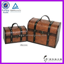 Hot sale cute hat box for leather wooden trunk
