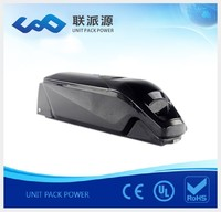lithium battery ebike 48V 11.6AH dolphin style li ion battery for electric bike