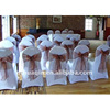 Fashion polyester banquet chair cover with organza sash cheap wedding chair cover wedding chair cover and organza sash