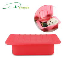 2018 New products wholesale high quality small mens kitchen silicone heated lunch box