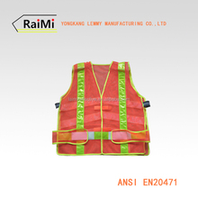 ANSI mesh reflective safety vests chalecos reflectantes with pvc tape