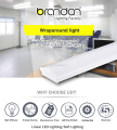 Indoor 40w UL DLC ETL commercial ceiling led light linear strip light fixture