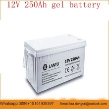 rechargeable vrla deep cycle gel solar battery 12v 250ah