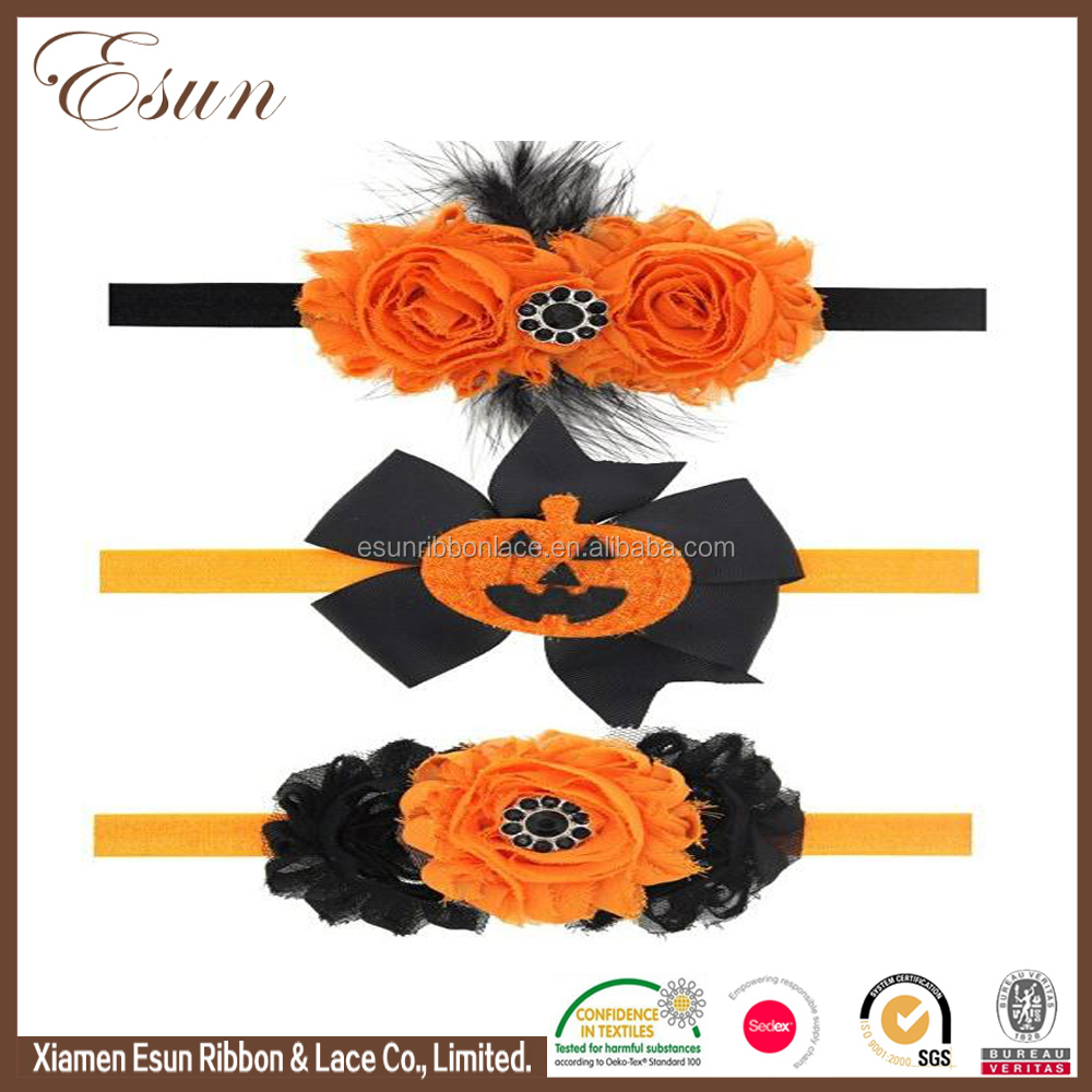 Well made high quality awesome ribbon halloween headbands bow with feathers