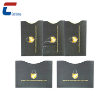 Waterproof coated paper rfid blocking card sleeves for ic card /sd card sleeves