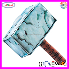 D782 Vivid Sublimation Printed Thor Hammer Stuffed Toys Blue Thor Hammer Plush