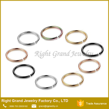 316L Surgical Seamless Nose Ring Wholesale Free Sample Fake Nose Piercing