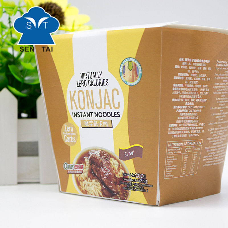 Weight loss diet low calories high dietary fiber konjac cup noodles