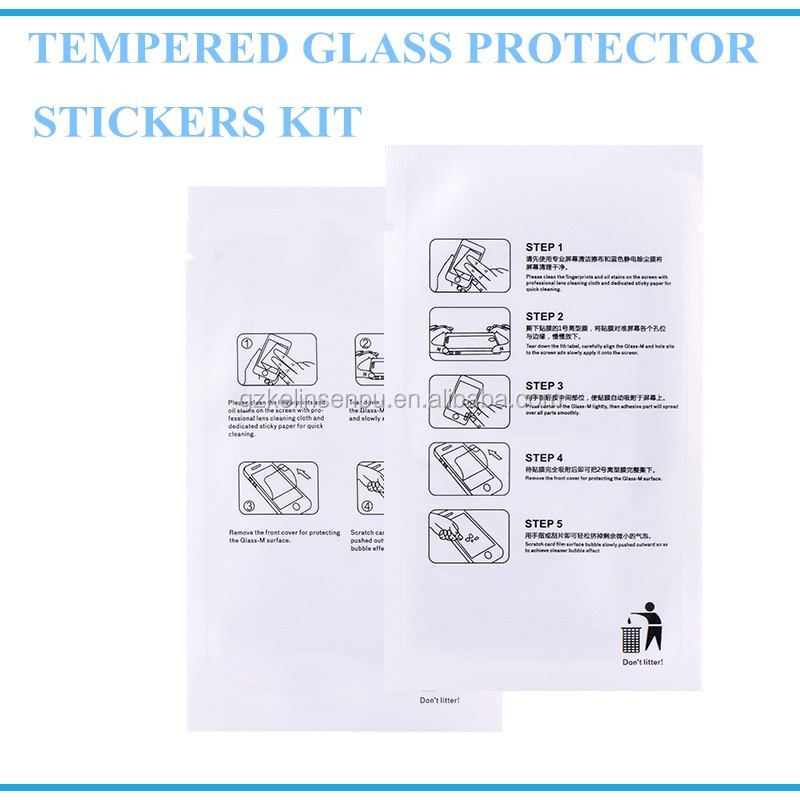 Mobile phone use screen protector clean kit dust removal sticker