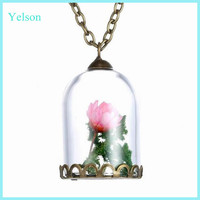 Wholesale Glass Jewelry Flower Glass Dome