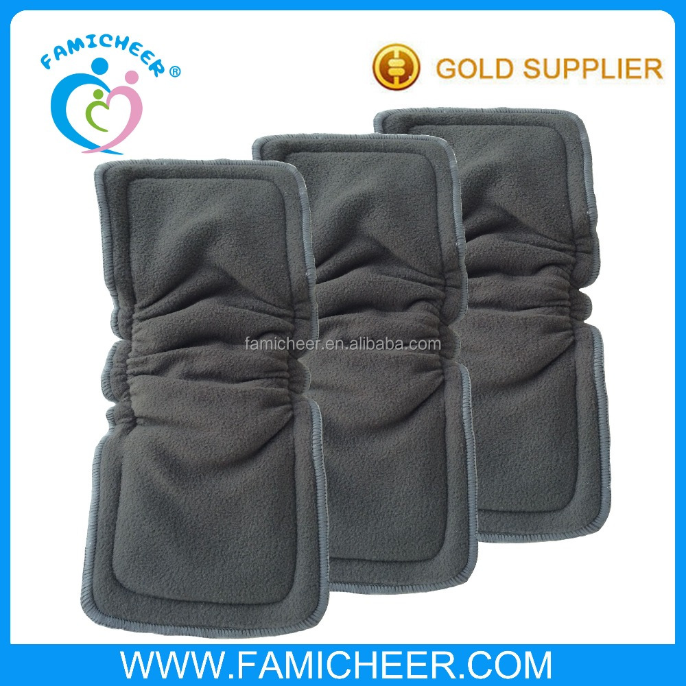 Famicheer Bamboo Charcoal Diaper Insert With Double Gusset