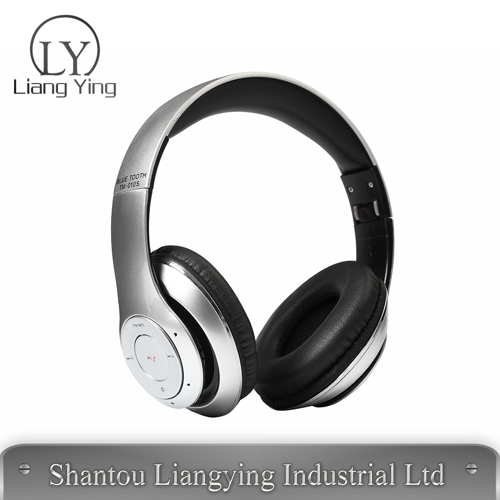 Colorful bluetooth headphone with built in mp3 player and FM radio foldable bluetooth headphone