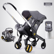 TS74 2018 ZheJiang YiWu Aluminumframe travel items 5 point safety belt en1888 and ECE R4 carseat stroller 4 in 1
