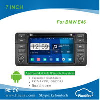 Finenav Newest S160 Android 4.4.4 Car DVD player for BMW E46 with radio Wifi GPS navi Quad Core 1024*600 Screen