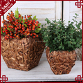 Natural water hyacinth basket for plants indoor decorative novelty planters